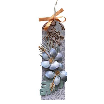 Obrázek Jmenovka na dárek (střední) Orientální - 2 květy