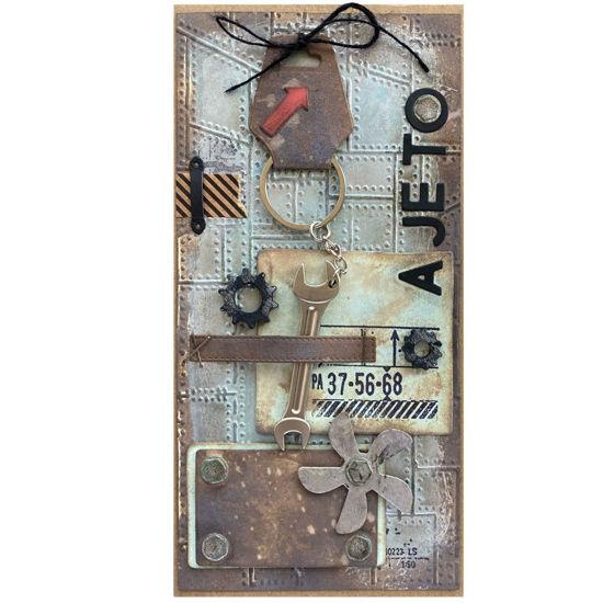Ideální přáníčko pro muže, obsahuje dáreček - kovový přívěšek na klíče Oboustranný klíč