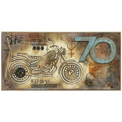Obrázek Přání k 70. narozeninám Motorkář