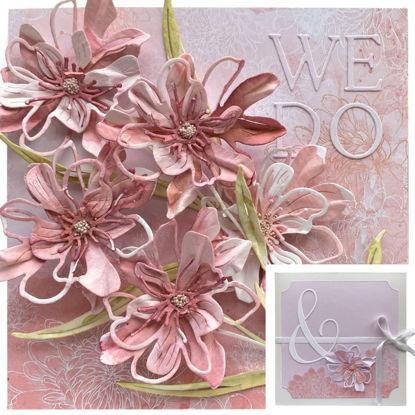 Obrázek Přání na peníze s krabičkou Růžové květiny