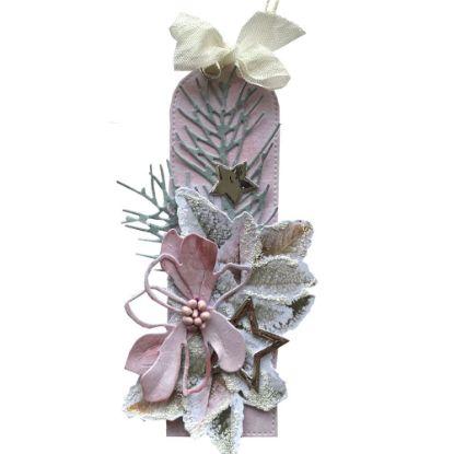 Obrázek Jmenovka na dárek (střední) Růžový květ