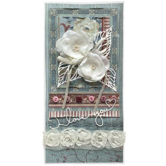 Obrázek Svatební přání Bílé růžičky