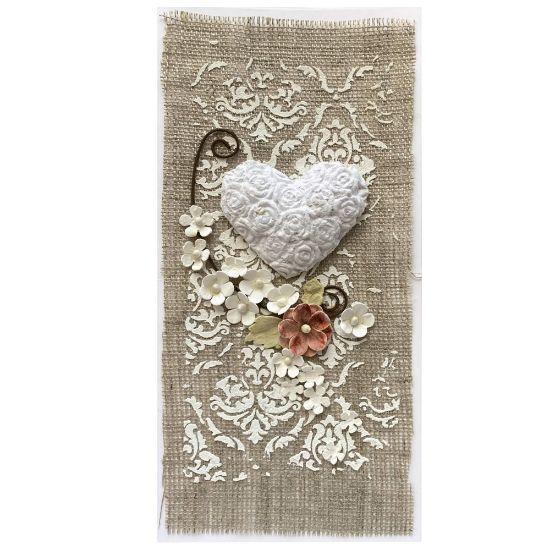 Obrázek Valentýnské přáníčko Bílé srdce